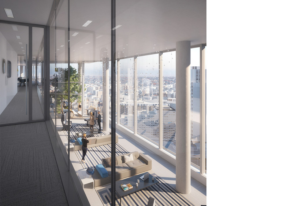 """À La Défense, la tour Trinity promeut un """"nouvel art de travailler"""" - © Cro&Co"""